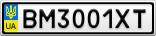Номерной знак - BM3001XT