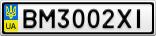Номерной знак - BM3002XI