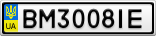 Номерной знак - BM3008IE