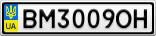 Номерной знак - BM3009OH