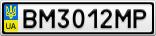Номерной знак - BM3012MP