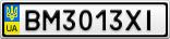 Номерной знак - BM3013XI