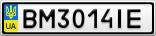 Номерной знак - BM3014IE
