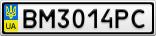 Номерной знак - BM3014PC