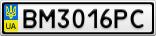 Номерной знак - BM3016PC