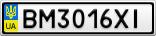 Номерной знак - BM3016XI