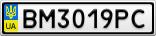 Номерной знак - BM3019PC