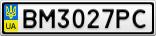 Номерной знак - BM3027PC
