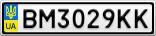 Номерной знак - BM3029KK
