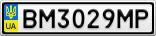 Номерной знак - BM3029MP