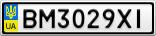 Номерной знак - BM3029XI