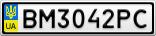Номерной знак - BM3042PC