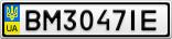 Номерной знак - BM3047IE