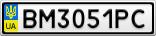Номерной знак - BM3051PC