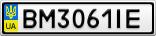 Номерной знак - BM3061IE