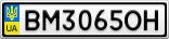 Номерной знак - BM3065OH