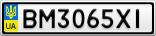 Номерной знак - BM3065XI