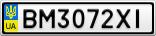 Номерной знак - BM3072XI
