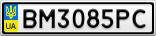 Номерной знак - BM3085PC