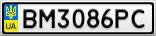 Номерной знак - BM3086PC