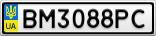 Номерной знак - BM3088PC