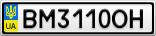 Номерной знак - BM3110OH