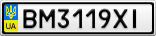 Номерной знак - BM3119XI