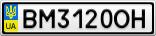 Номерной знак - BM3120OH