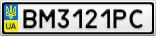 Номерной знак - BM3121PC