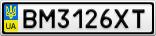 Номерной знак - BM3126XT
