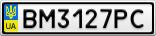 Номерной знак - BM3127PC