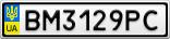 Номерной знак - BM3129PC