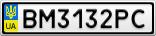 Номерной знак - BM3132PC