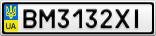 Номерной знак - BM3132XI