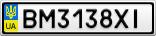 Номерной знак - BM3138XI