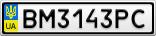 Номерной знак - BM3143PC