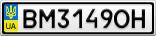 Номерной знак - BM3149OH