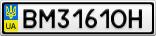 Номерной знак - BM3161OH