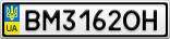 Номерной знак - BM3162OH