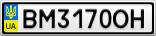 Номерной знак - BM3170OH