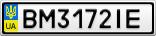 Номерной знак - BM3172IE