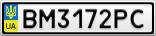 Номерной знак - BM3172PC