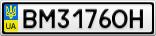 Номерной знак - BM3176OH