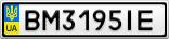 Номерной знак - BM3195IE