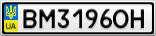 Номерной знак - BM3196OH