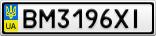 Номерной знак - BM3196XI