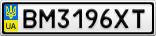 Номерной знак - BM3196XT