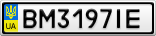 Номерной знак - BM3197IE