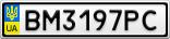 Номерной знак - BM3197PC