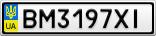 Номерной знак - BM3197XI
